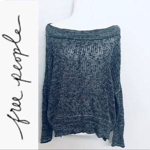 Free People Gray Knit Sweater